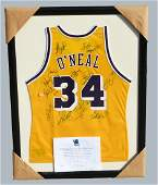 LA Lakers Team Signed  Kobe Bryant Jersey Shaquille