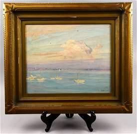 Maurice Braun 1877-1941, San Diego,CA Oil On Canvas