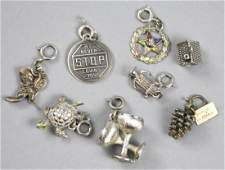 Sterling Silver Charm Lot, Beau, Tourist & Mid Century