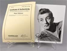 Signed Robert Mitchum Headshot, COA