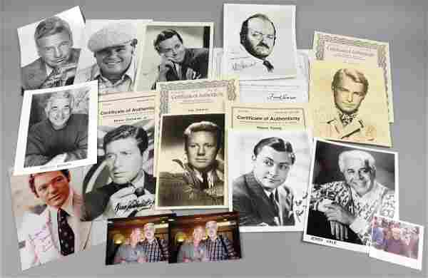 Signed Actor Headshots, Ladd, Fonda, More, Van Johnson
