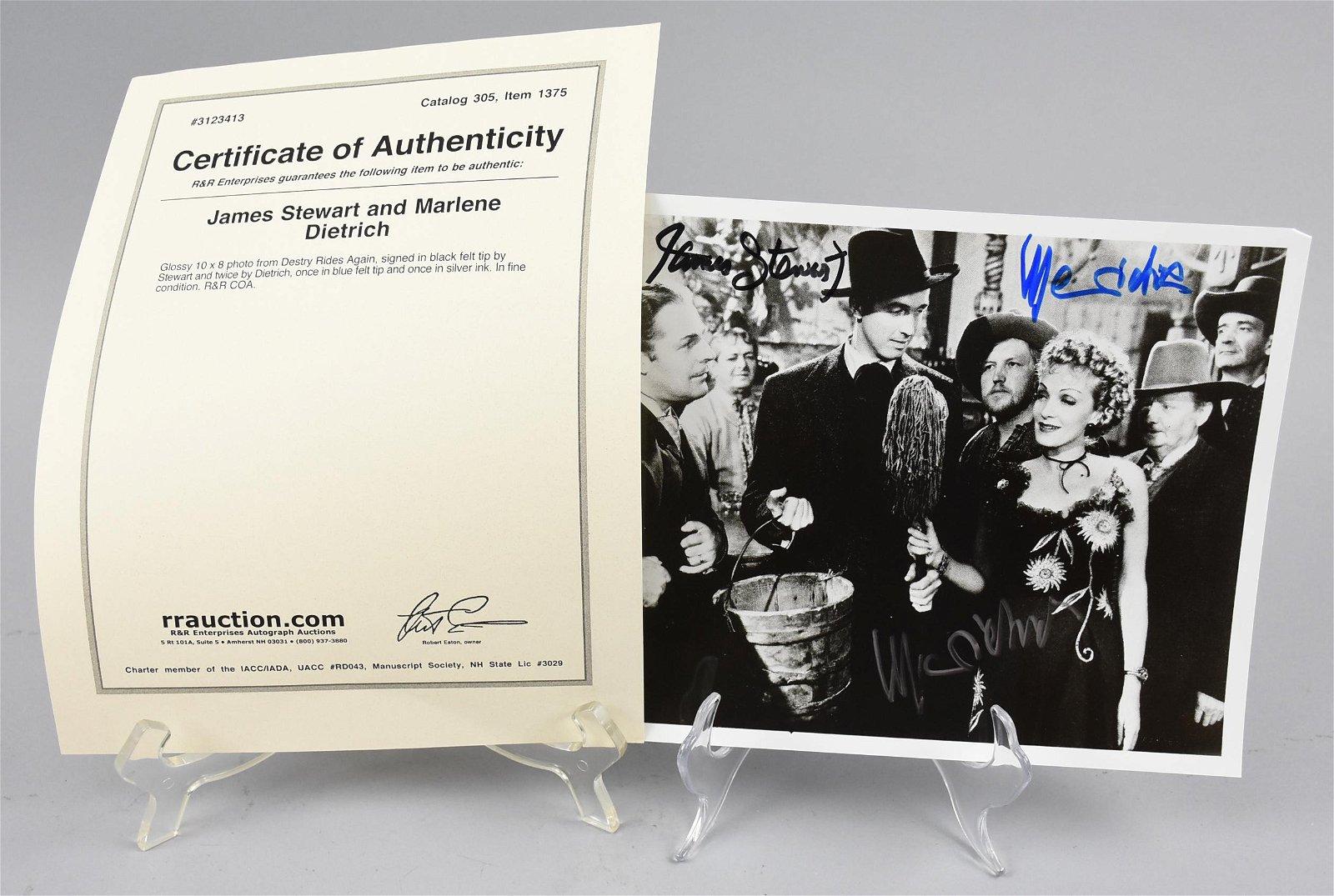 Destry Rides Again, Signed Marl Dietrich, Stewart, COA