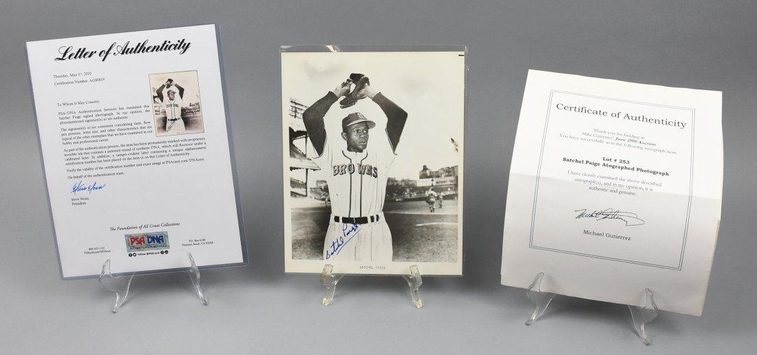 Satchel Paige, Negro League, Signed Photo, PSA