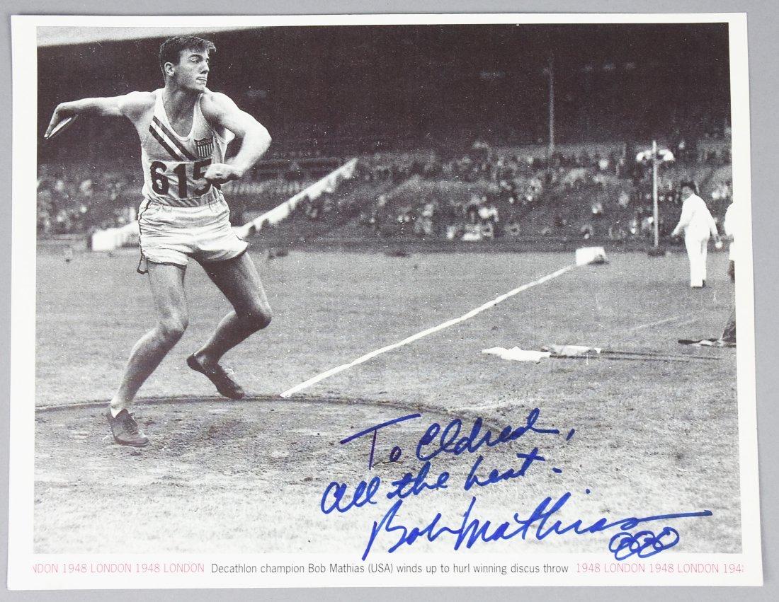 Olympics Gold Medalist Bob Mathias Signed Photo