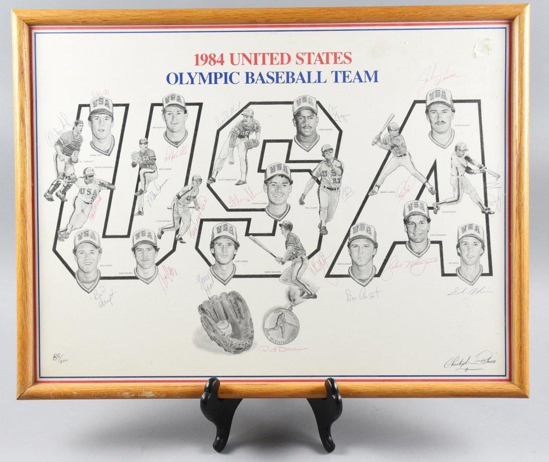 1984 US Olympic Baseball Team, Hand Singed McGwire
