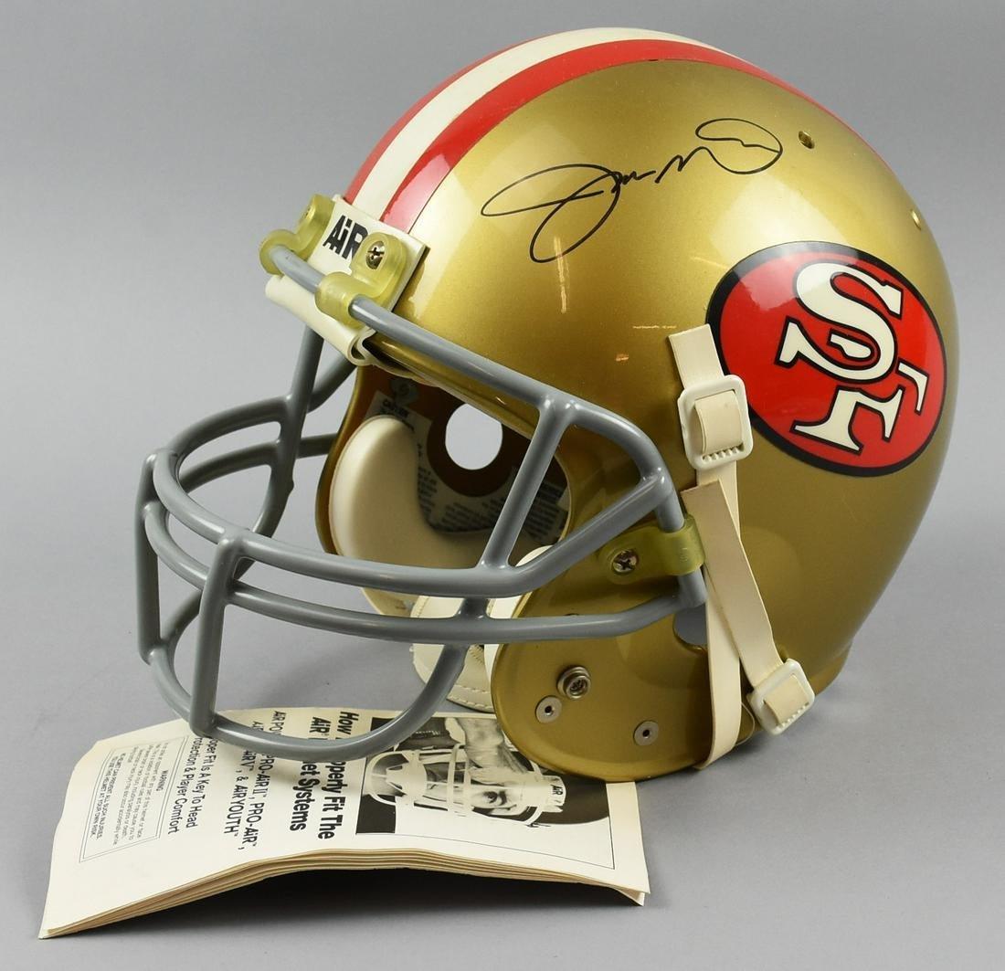 Montana San Francisco 49ers Signed Helmet
