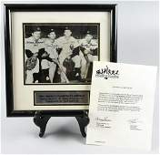 1961 Yankees World Champion B&W COA Kubeck Boyer