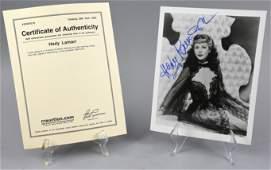 Hedy Lamarr, Experiment Perilous, COA Signed