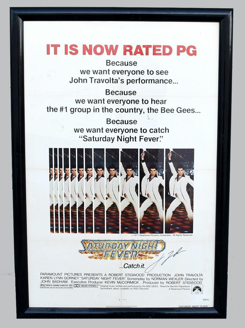 John Travolta Signed Saturday Night Fever One Sheet,