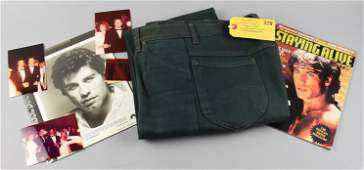 John Travolta Saturday Night Fever Jeans Worn Signed