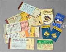 Vintage/Contemporary Disneyland Tickets/Passes