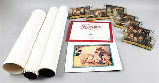 Disney Collection Film Cels Posters 7 Dwarfs Signed