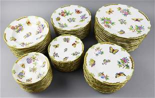 (73)Herend Queen Victoria, Dinner Plates/Bowls