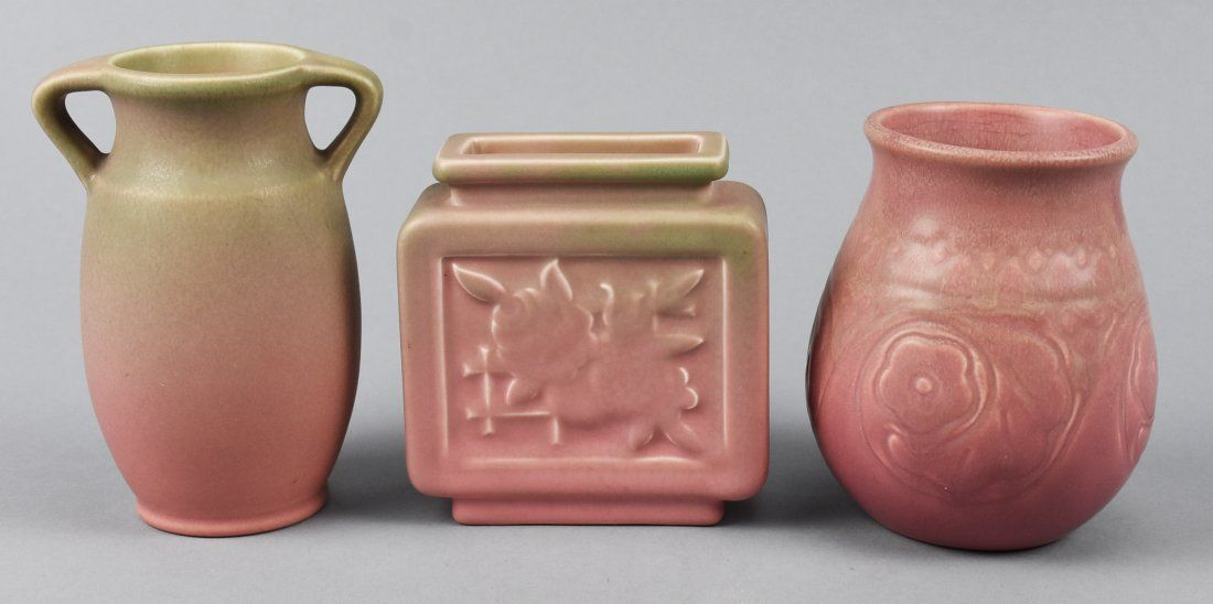Rookwood Art Pottery Lot in Pink