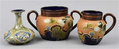Royal Doulton, Maud Bowden Cream, Sugar, Vase
