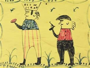 R,A. Miller(1912-2006) Gunpoint Blow Oskar
