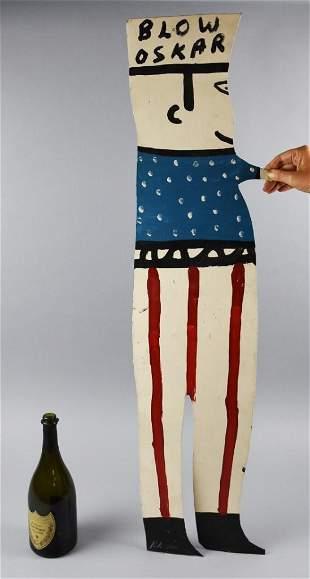 R.A. Miller (1912-2006) Blow Oskar Standup Tin  Large
