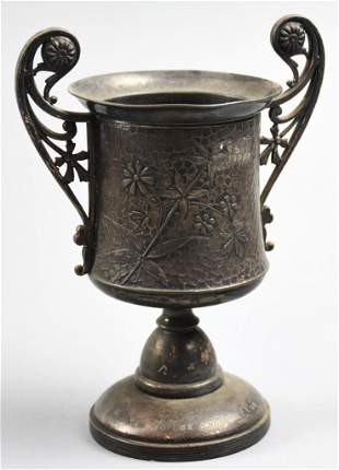 1887 James Tufts Silver Plate Los Angeles Trophy