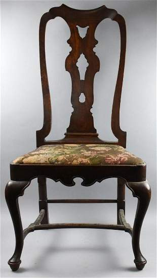 Queen Anne Side Chair, Antique Early