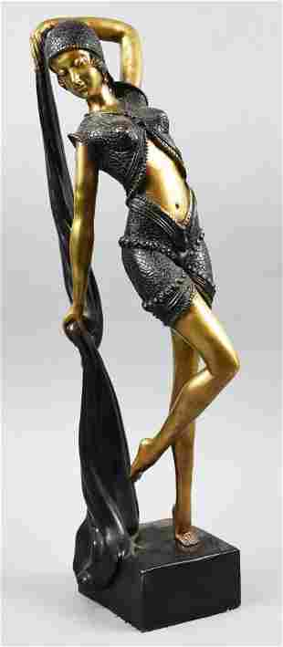 Egyptian Bronze Belly Dancer Chiparus Style