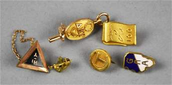 Vintage Misc Lapel Pins Gold 14 k GF