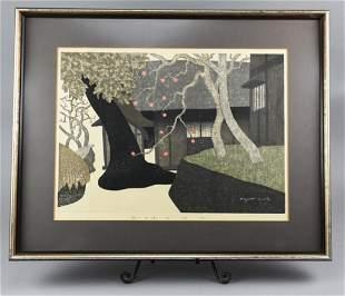 Kiyoshi Saito (Japanese 1907-1997) Woodblock
