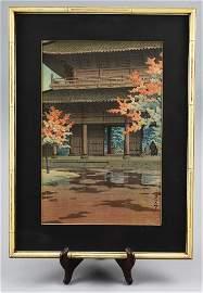 Woodblock Kawase Hasui Nanzenji Temple in Autumn 1951