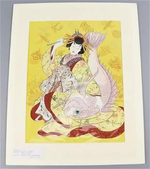 Paul Jacoulet (1896-1960) Woodblock Print