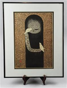 Kaoru Kawano (1916-1965) Woodblock Print