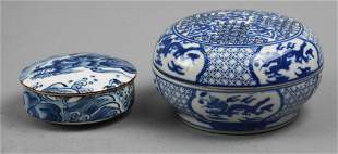 Vintage Asian Blue & White Porcelain Trinkets Kozan Gam