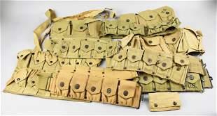 WW2 Lot of 7 Gun Pistol Belts & MK1 Chest Rig