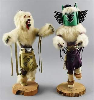 2 Kachina Dolls by Rosita Corriz Crow & Bear