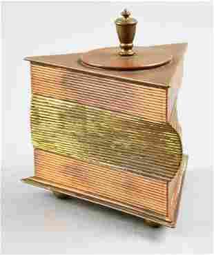 c1930 John Nicholas Otar Mixed Metal Cigarette Box