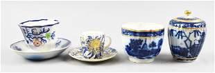 18th C Caughley Porcelain Cream/Sugar, Plus