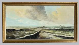 A. Vanderplessy (1900-?) Oil on Canvas