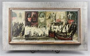 Robert E. Wood (1926-1999) Watercolor A.N.A.