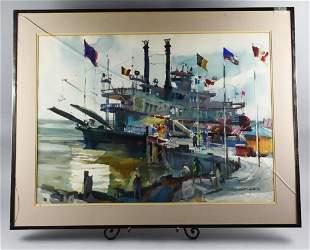 Robert E. Wood (1926-1999) Watercolor