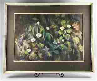 "Marion Biehn (1911-1992) Oil on Canvas ""Anemones"""