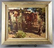 """Burt Procter (1901-1980) Oil on Canvas """"Noon"""""""