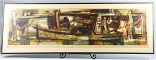Robert E. Wood (1926-1999)  Edd Tide Litho 5/55