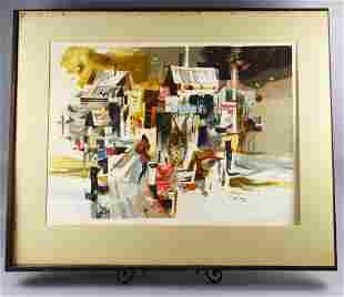 Robert E. Wood (1926-1999) California Artist Lithograph