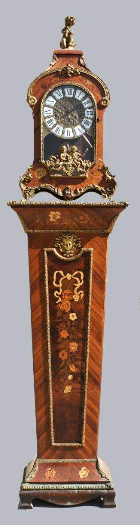 French Bracket Clock with Matching Pedestal