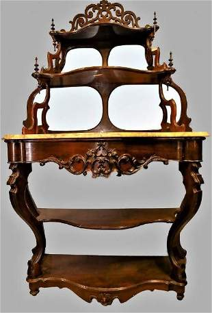 Fantastic Victorian Etegere with Marble Top