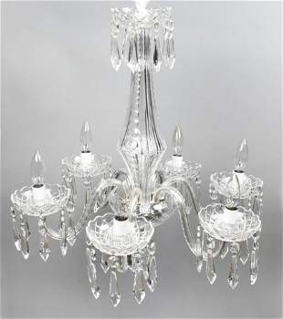 Waterford 6-Arm Crystal Chandelier