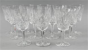 (12) Waterford Lismore Crystal Glasses