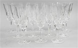 (12) Waterford Lismore Crystal Champagne Flutes
