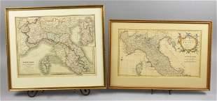 (2) Antique Italy Maps, Thomas Kitchin, C. Smith