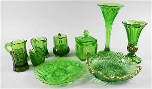 (10) EAPG Emerald Green, US Glass, More