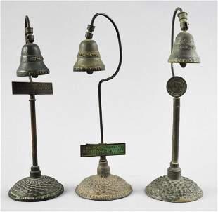 (3) Arts & Crafts Bronze El Camino Real Bells
