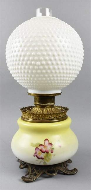 Antique Gone with the Wind Painted Lamp